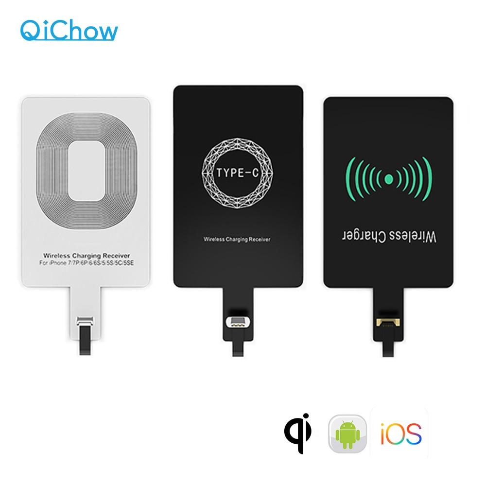 Беспроводной приемник быстрой зарядки Qi для iPhone 6, 7 Plus, Универсальный зарядный приемник, адаптер, катушка для Micro USB Type-C Телефона