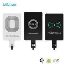 Veloce Qi Ricevitore Caricabatterie Senza Fili Per iPhone 6 7 Plus. Universale del Ricevitore di Ricarica Adattatore Pad Tipo di Bobina Per Micro USB C Del Telefono