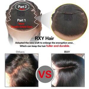 Image 3 - Ciało koronkowa fala przodu peruki z ludzkich włosów dla czarnych kobiet PrePlucked naturalną linią włosów z dzieckiem włosy RXY 13x4 brazylijska peruka z włosów typu remy
