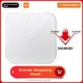 Báscula de peso inteligente Original Xiaomi mi 2 báscula de peso de salud Bluetooth 5 báscula Digital compatible con Android 4,3 iOS 9 mi ajuste APP