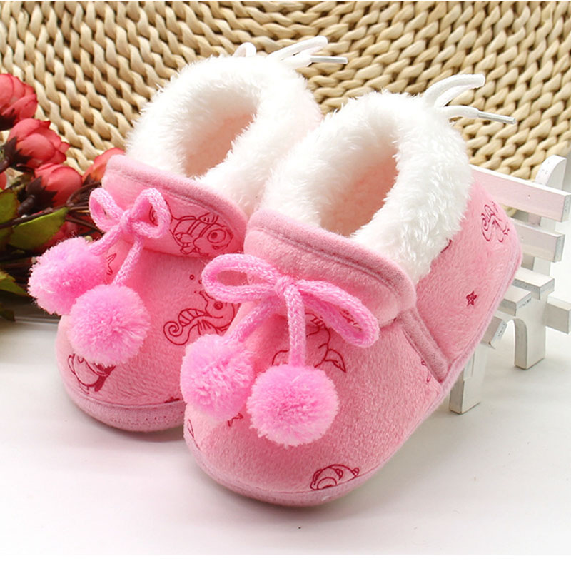Baby Shoes Winter Newborn Baby Girls Princess Winter Boots First Walkers Infant Toddler Soft Soled Kids Girl Footwear Shoes