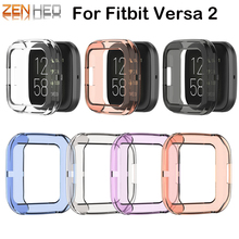 Protection Cover For Fitbit Versa 2 Band Case Soft Watch Frame For FitBit Versa Watch 2 Accessories Screen Protective Case mijobs pc diamonds case cover for fitbit versa band screen protector watch shell smart watch accessories for fitbit versa lite