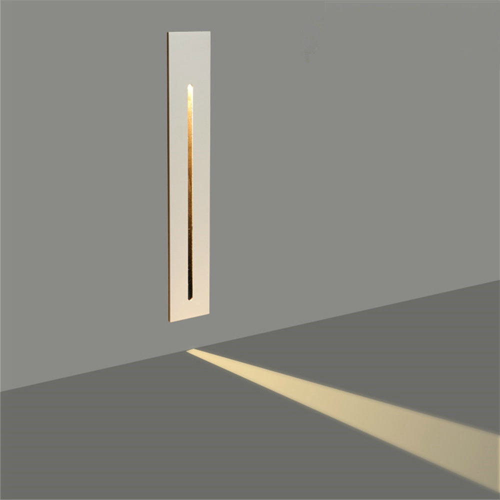 3W Recessed Led Stair Light AC85-265V Indoor Corner Wall Lights Step Decoration Lamp Hallway Staircase Lamps Dropshipping