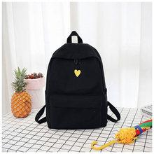 High Quality Canvas Backpack Travel Bag Printing Heart Backpack School Bag For Teenage Girls Laptop Backpacks стоимость