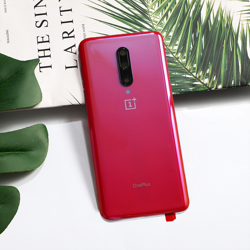 Oneplus7 Pro Original Back Cover For Oneplus 7 Pro One Plus Housing Glass Smart Phone Door Replacement Case With Camera Glue