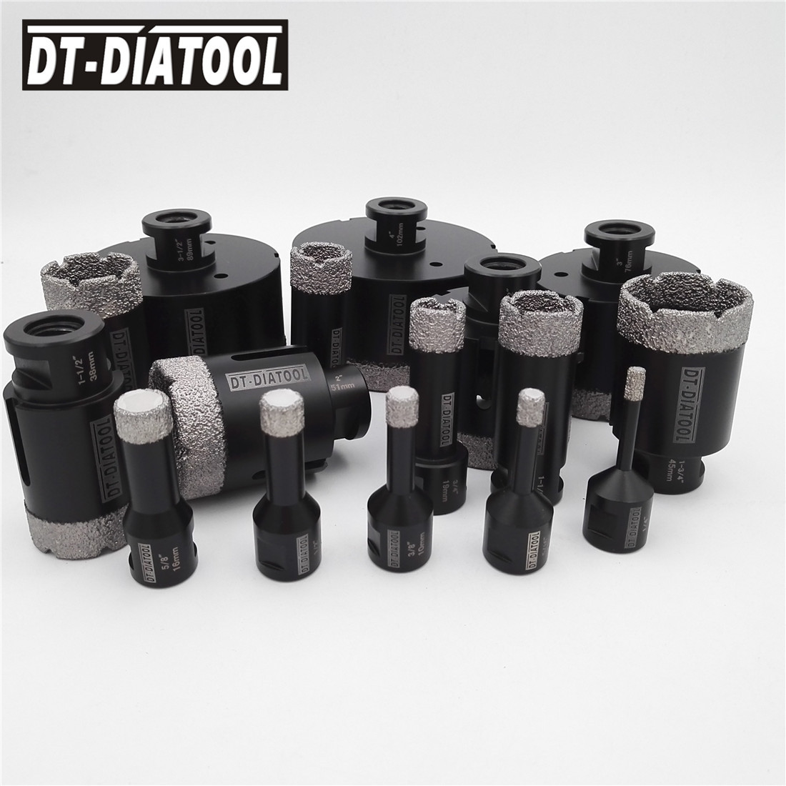 DT-DIATOOL 1pc Vacuum Brazed Diamond Drilling Bits Hole Saw Dry M14 Or 5/8-11 Thread Drill Core Bits For Ceramic Tile  Porcelain