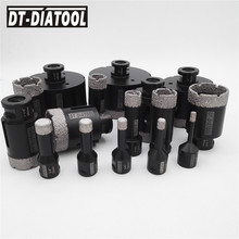 цена на DT-DIATOOL 1pc Vacuum Brazed Diamond Drilling Bits Hole Saw Dry M14 or 5/8-11 Thread Drill Core Bits for Ceramic Tile  Porcelain