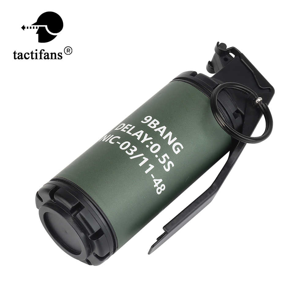 Tactische Flash 9 Bang Grenade Dummy Model Molle Systeem Frag Gren Kostuum Militaire Airsoft Schieten Paintball Accessoires