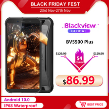 Blackview BV5500 Plus 3GB 32GB Face Recognition/fingerprint Recognition 8mp New Rugged