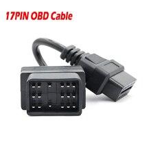 OBD2 כבל מתאם עבור טויוטה 17Pin זכר 16Pin נקבה OBD מתאם כדי OBDII מחבר עבור טויוטה 22 פין ODB2 כבל עבור טויוטה