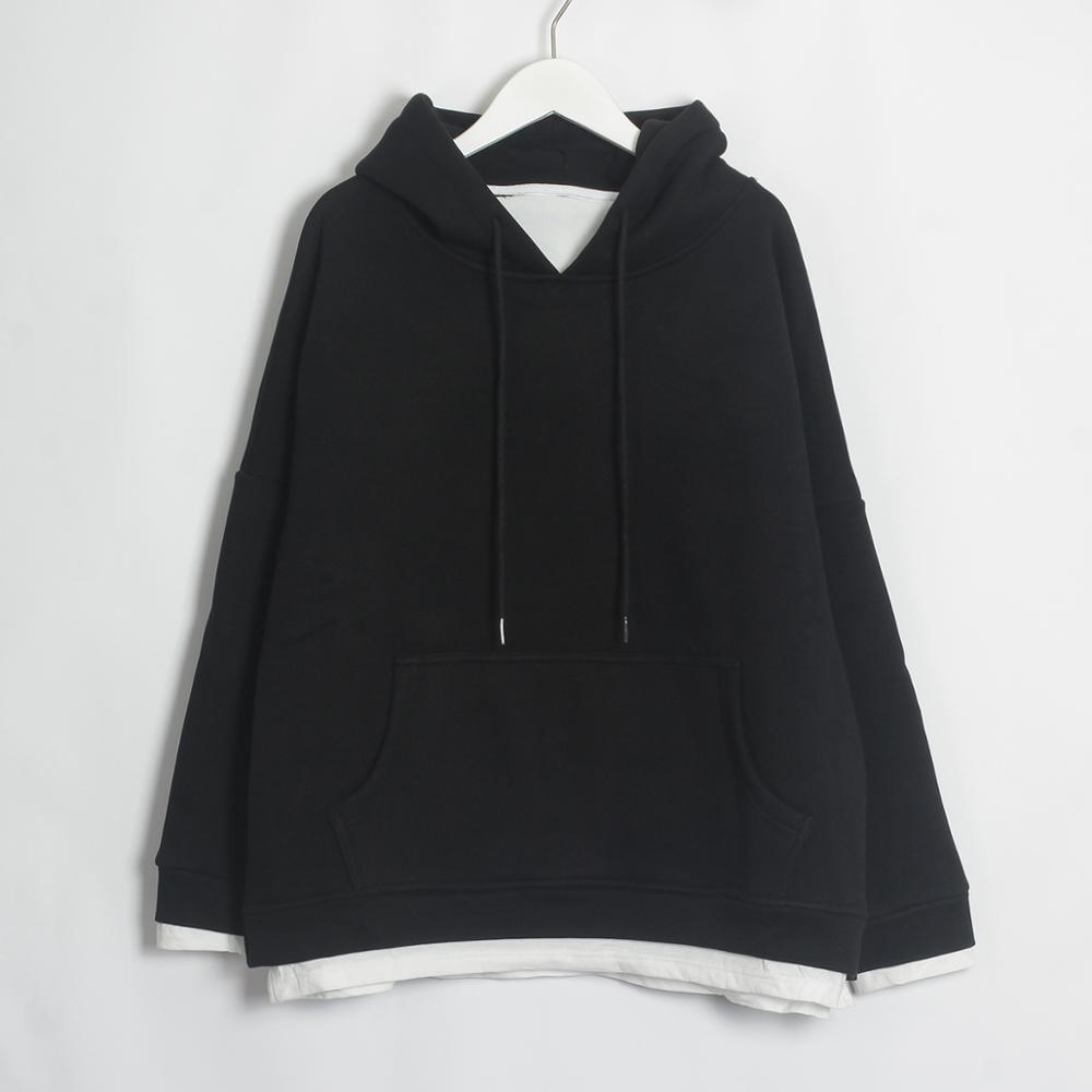 Wixra Women Casual Sweatshirts Warm Velvet Long Sleeve Oversize Hoodies Tops 2019 Autumn Winter Pullover Tops 11
