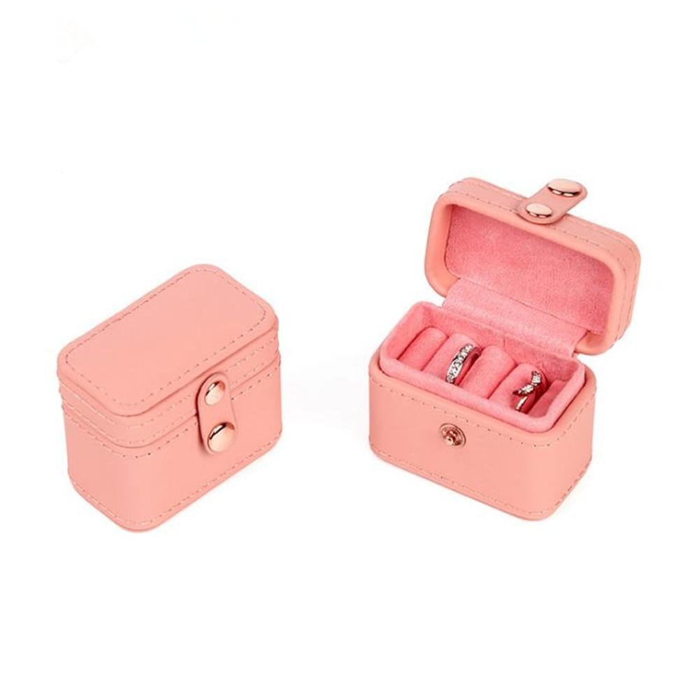 New Mini Snap Jewelry Box Fashion PU Ring Box Pair Ring Earring Pendant Box Bangle Storage Box New Arrival