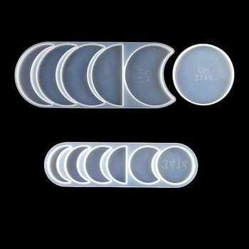 Starry Lunar Eclipse Resin Mold Astronomy Crescent Moon Phases Silicone UV Resin Casring Mold Moon Plant diy Craft Tools sephora collection 17 lunar eclipse