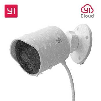 YI cámara de seguridad al aire libre ranura para tarjeta SD y nube IP Cam inalámbrica 1080p impermeable visión nocturna sistema de vigilancia de seguridad blanco