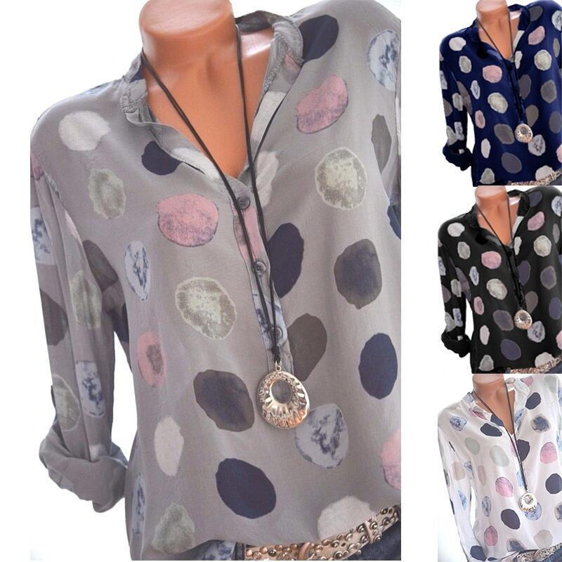 new women blouse fashion 2020 female print casual button elegance 2020 festivals womens top shirt ladies clothing top xxl