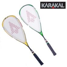 130 г официальный Karakal Углеродные ракетки для сквоша зеленые желтые ракетки для сквоша с ручкой Спортивная ракетка для сквоша из графита SLC