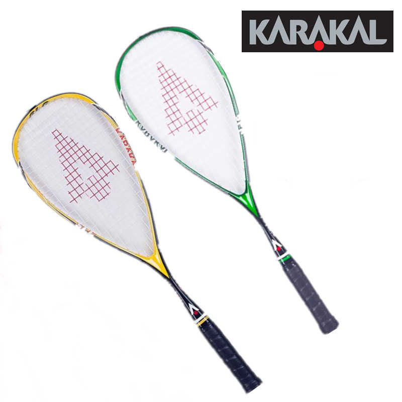 130G Official Karakal Carbon Squash Rackets Green Yellow Squash Racquets With Grip Bag Racquet Sports Graphite Squash Racket SLC