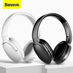 Baseus D02 słuchawki z Bluetooth przenośne słuchawki Bluetooth zestaw słuchawkowy Stereo bezprzewodowe słuchawki z mikrofonem do telefonu  komputera