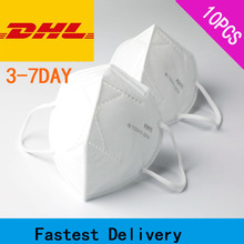 10 PCS KN95 FFP2 Masks Non-woven Anti Dust Mouth Face Cover Safety Protective Earloops Face Mouth mask n95 mask Dustproof 500pcs kn95 face mask n95 ffp2 pm2 5 anti pollution mask filter non woven disposable masks for germ dust protection pack