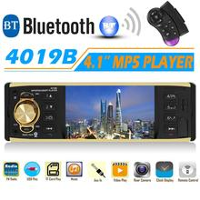 4 TFT Screen 4019B 1 Din Car Radio Audio Stereo MP3 Car Audio Player Bluetooth Support Rearview Camera Remote Control USB FM