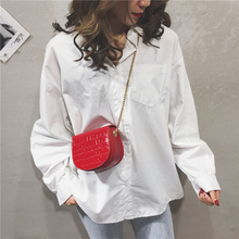 Womens Handbags And Purses Vintage Saddle Bag With Chain Stone Crocodile Pattern PU Leather Crossbody Shoulder Bags