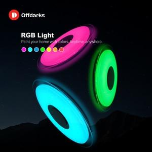Image 3 - Offdarks nowoczesne oświetlenie sufitowe LED głośnik Bluetooth z pilotem APP salon sypialnia kuchnia lampa sufitowa