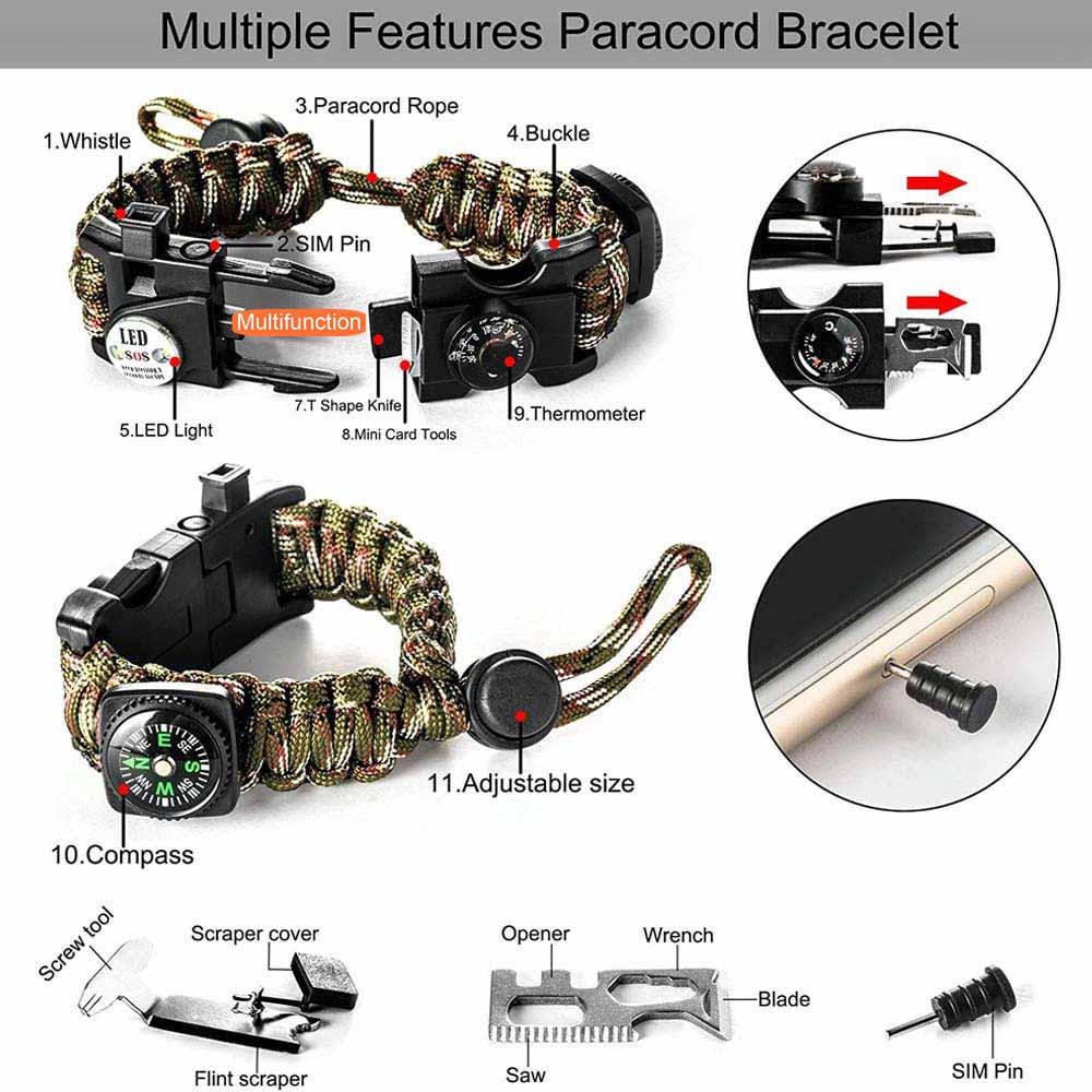 Survival bracelet survive tool edc (2)