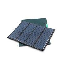 12v 1.5w painel solar padrão de silício policristalino epóxi diy módulo carga energia da bateria mini célula solar