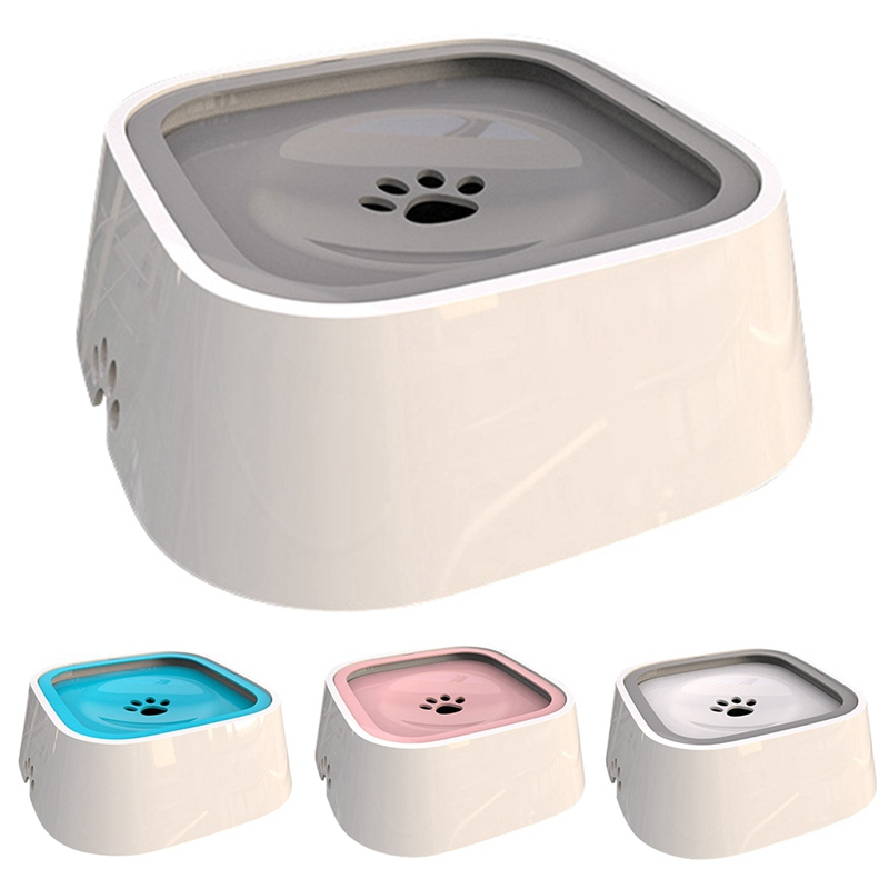 Pet Cat Anti Splashing Bowl Not Wetting Mouth Water Feeder Anti-slip Pet Bowl