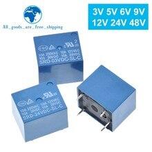 10 adet röleleri SRD-03VDC-SL-C SRD-05VDC-SL-C SRD-06VDC-SL-C SRD-09VDC-SL-C SRD-12VDC-SL-C 3V 5V 6V 9V 12V 24V 48V 10A 250VAC 5PIN