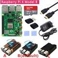 4000336926953 - Kit Original Raspberry Pi 4 Modelo B + caja de aluminio + disipador de calor + interruptor de alimentación 3A + opción Micro HDMI 64 tarjeta SD de 32GB   lector