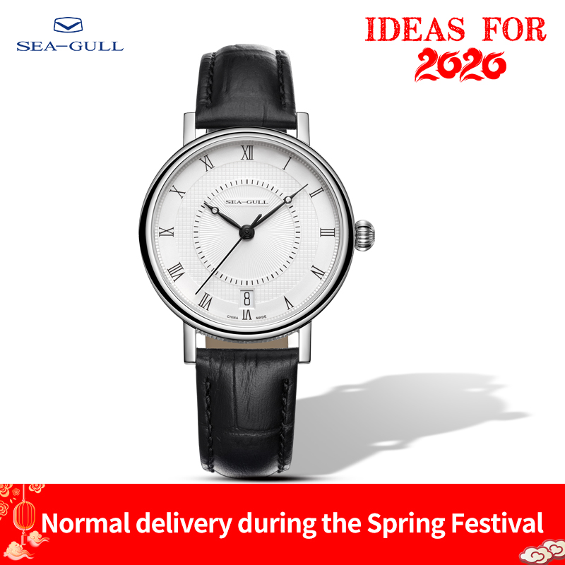 2019 Seagull Couple Watch Fashion Business Automatic Mechanical Watch Waterproof Steel Belt Watch 819.11.6022 Birthday Gift