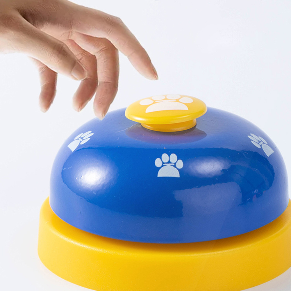 Pet IQ Training Bell Cute Printed Cat Dog Practical Training Bells Pets Communication Device Puppy Called Dinner Reminder Feeder-3
