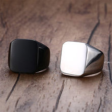 ZORCVENS 2020 personalizada anillos de sello para hombre, banda de acero inoxidable personalizar grabar hombre anillos de joyería dropshipping