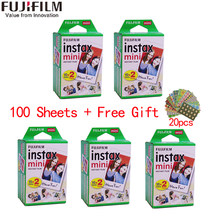 10/20/40/60/80/100 листов Fujifilm instax mini 11 9 3 дюймов белый край пленки для Фотоаппарат моментальной печати mini 8 7s 25 50s 90 фото бумага