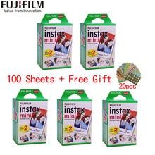 10/20/40/60/80/100 folhas fujifilm instax mini 11 9 3 Polegada filmes de borda branca para câmera instantânea mini 8 7s 25 50s 90 papel de foto