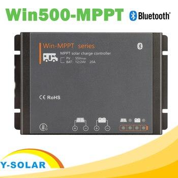 RV 20A MPPT Solar Controller 12V 24V Charge Regulator MPPT Boost Float Charger with BLE Modules LED Indicator  for Motor Homes mppt 10amp 10a solar power charger regulator tracer1215bn with temperature sensor 12v 24v