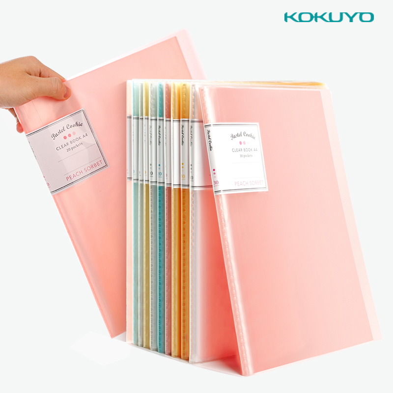 Japan Kokuyo A4 10/20/30/40 Multi-layer Folder Transparent Insert Bag School Office Student Data Storage Bag