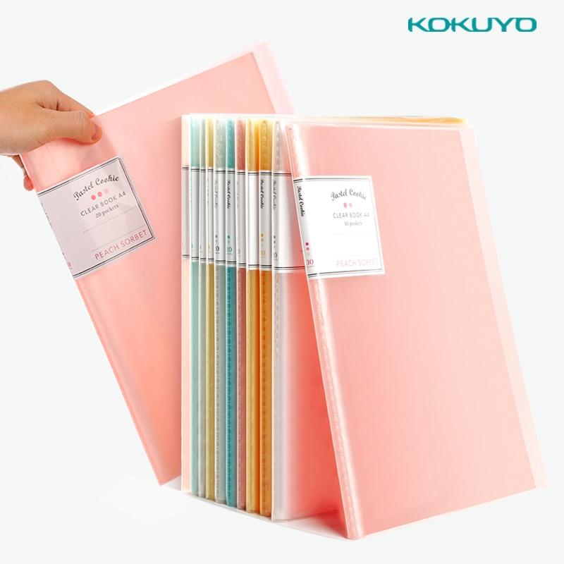 Japan Kokuyo A4 10/20/30/40 Multi-layer Folder Transparent Insert Bag School Office Student Data Storage Bag
