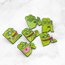 Pepe the Frog Meme Enamel Pins Shoot Pyramid Thinking Drinking Funny Animal Brooches Badge Jewelry Gifts for Friends