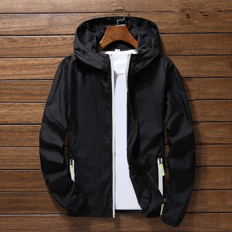 2020 Vrouwen Casual Jassen Mannen Lente Herfst Windjack Slim Fit Zipper Coat Unisex Solid Hooded Bomber Jacket Plus Size 7XL