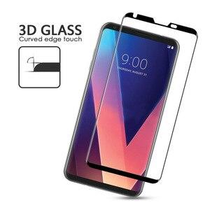 Image 5 - 3D 9H מלא כיסוי שחור מסך מגן עבור LG V30 V40 בתוספת V50 מזג זכוכית מגן זכוכית סרט קצה כדי קצה מלא כיסוי