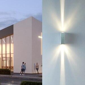 Image 5 - HA CONDOTTO LA Lampada Da Parete Impermeabile Indoor & Outdoor IP65 di Alluminio Su e Imbottiture Illuminazione 2x3W COB Portico Giardino camera da letto Bagno ZBD0020