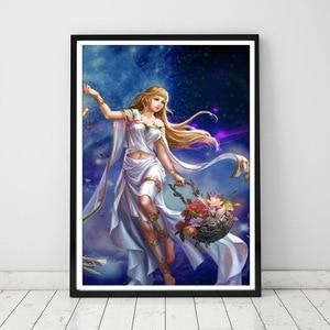 Image 3 - 妖精干支ダイヤモンド塗装12星座5D diyダイヤモンド刺繍女性ガール誕生日ギフト手作りの家の装飾