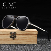 GM Wood Men Sunglasses Polarized Wooden Sun Glasses for Wome