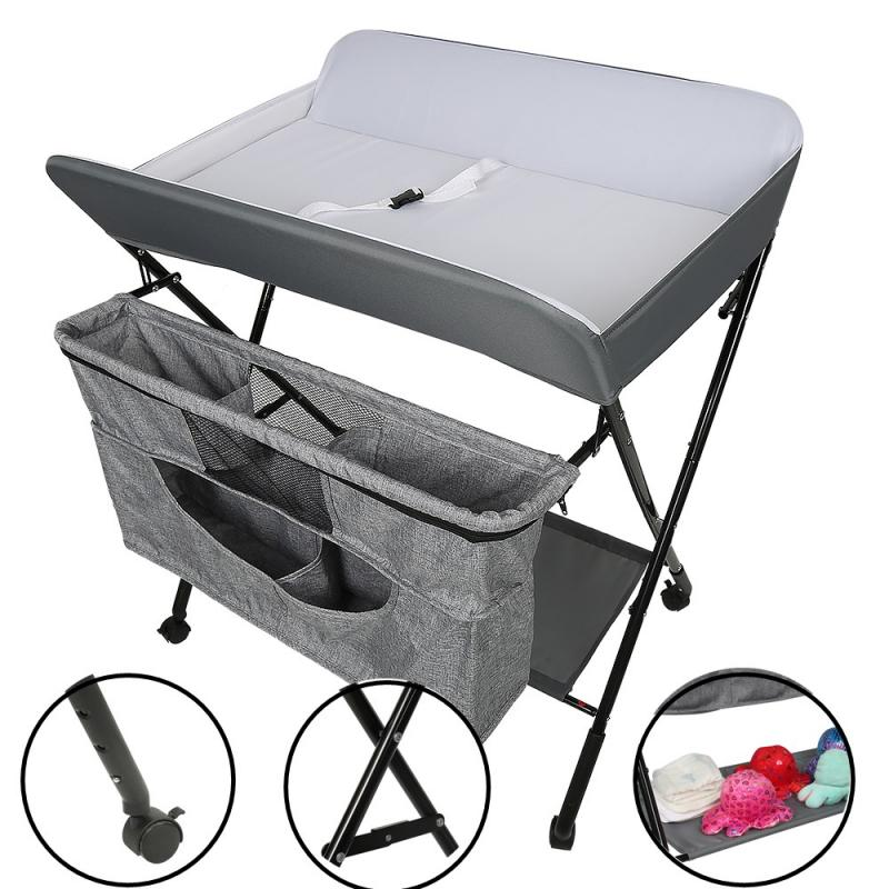 Folding Style Baby Infant Newborn Changing Table Mobile Nursery Diaper Station For Baby Under 3 Years Baby Care Supplies HWC