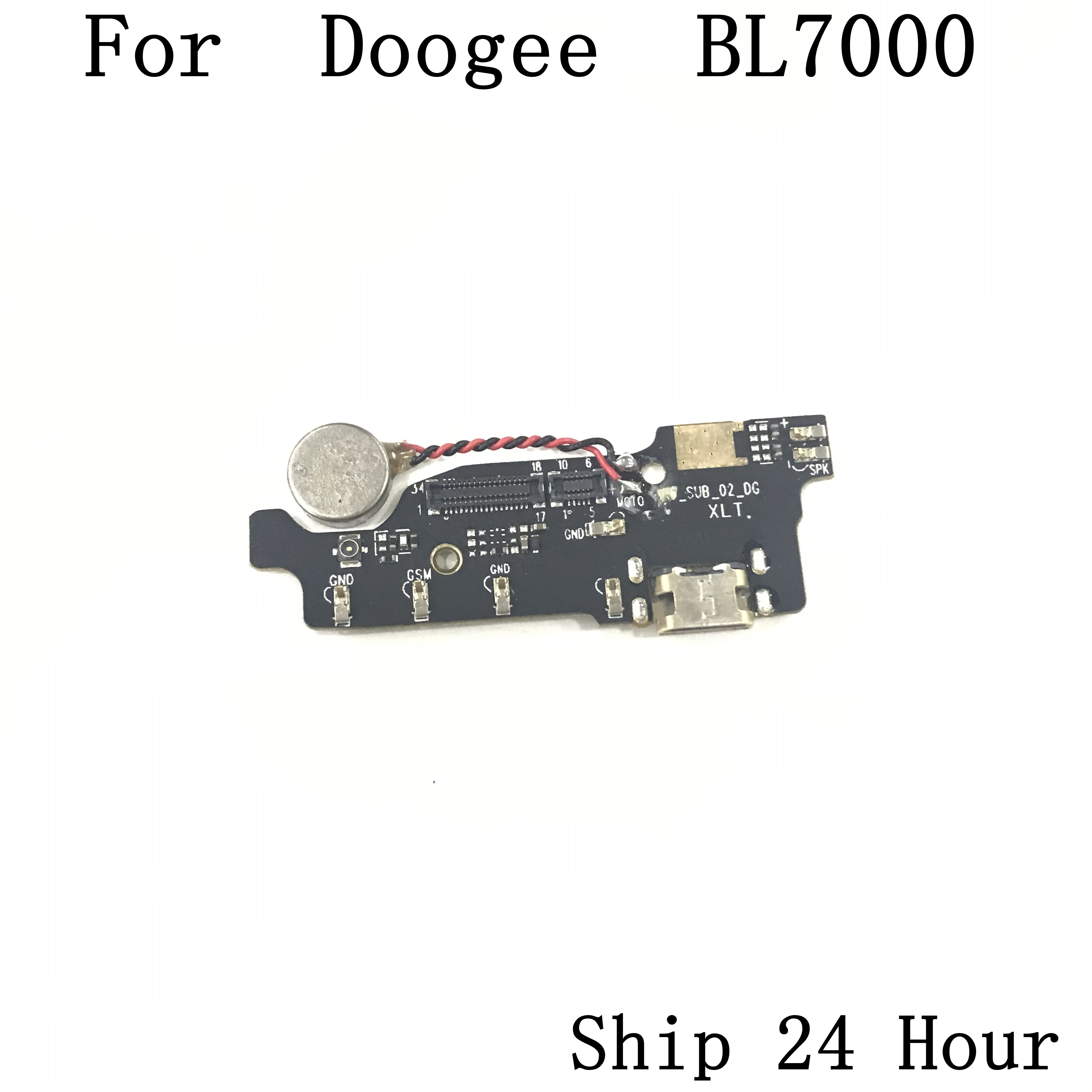 Doogee BL7000 Used USB Charge Board + Vibration Motor  For Doogee BL7000 Repair Fixing Part Replacement|Mobile Phone Circuits| |  - title=