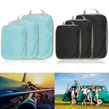 3 PCS Travel Storage Bag Set for Clothes Tidy Organizer Wardrobe Suitcase Pouch Travel Organizer Bag Case Shoes Packing Cube Bag