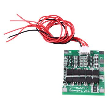 4S 30A Li-ion Lithium 18650 Battery Cell BMS PCB Protection Balance Board 14.8V image