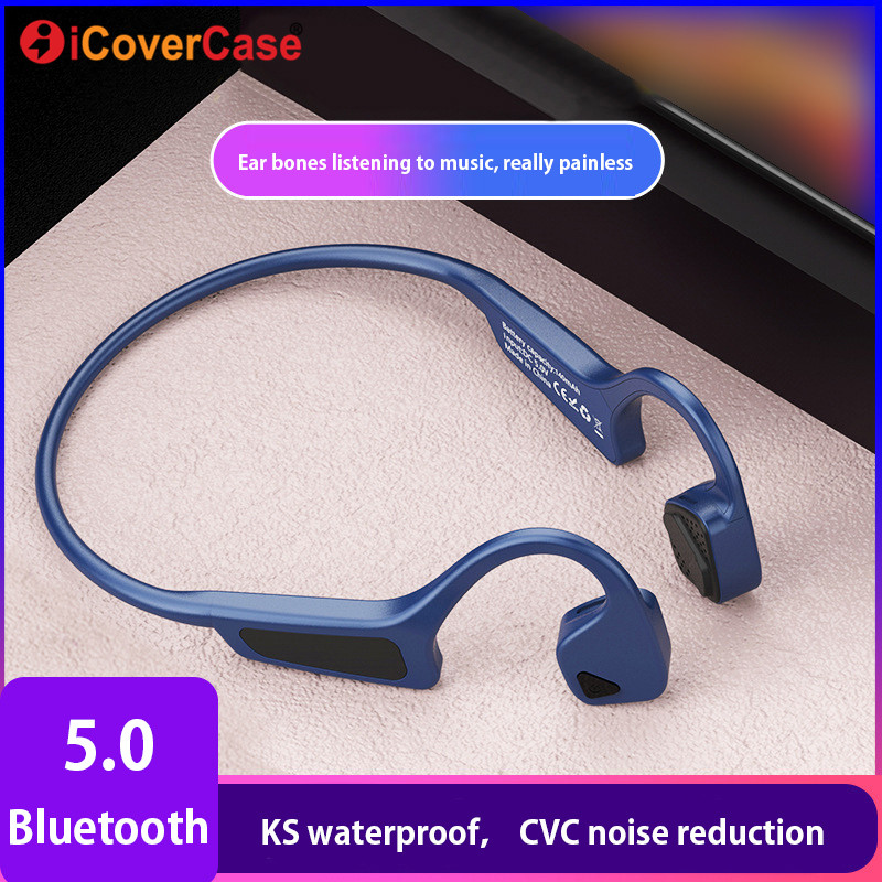 Wireless Bluetooth Earphone For Samsung Galaxy A10 A20 A30 A40 A50 A70 Bone Conduction Headphones Earpiece Handsfree Headset Mic Bluetooth Earphones Headphones Aliexpress